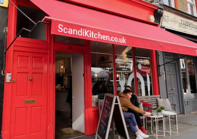 ScandiKitchen is known for its open sandwiches and salads.