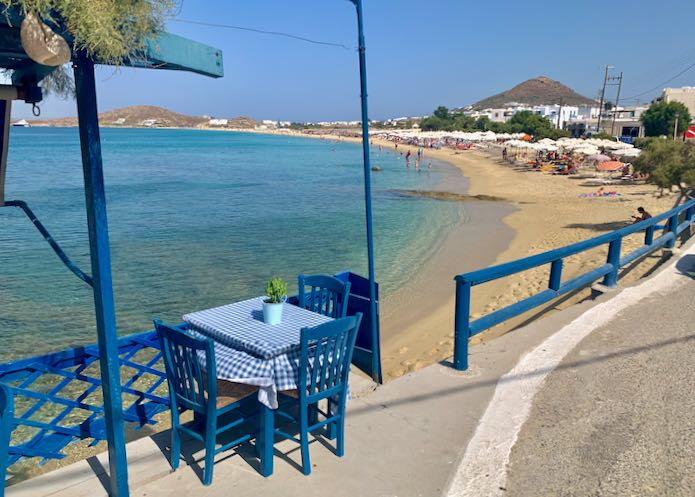 Itinerary for Naxos.