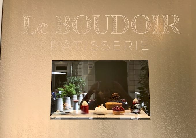 Le Boudoir is a high-end patisserie nearby.