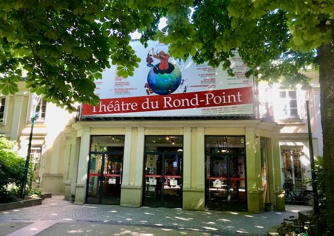 Theatre du Rond-Point features French plays.