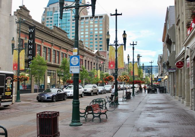 Stephen Avenue in Downtown Calgary.