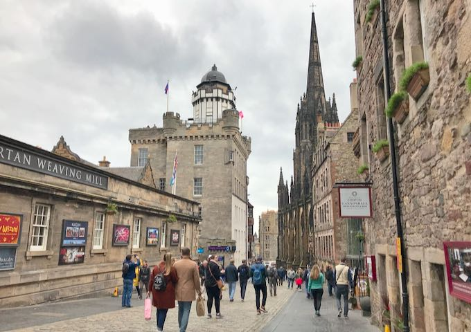 The Royal Mile in Edinburgh's Old Town.