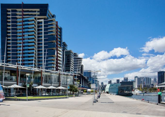 Docklands area in Melbourne.