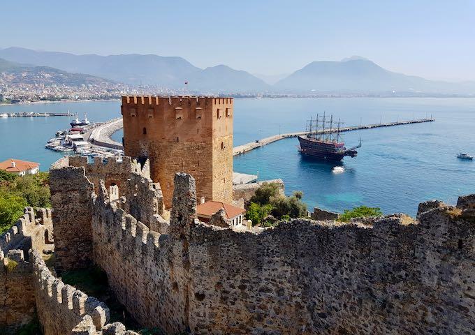 The port at Alanya, Turkey.