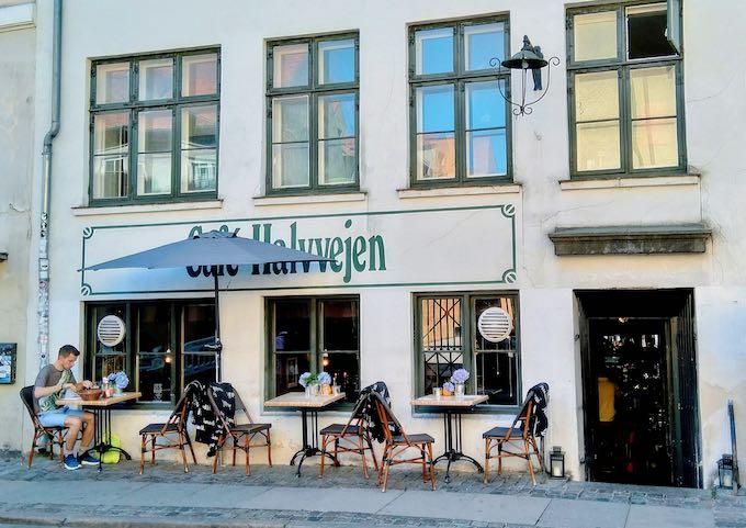 Café Halvvejen is a traditional pub serving beers, akvavit, and smørrebrod.