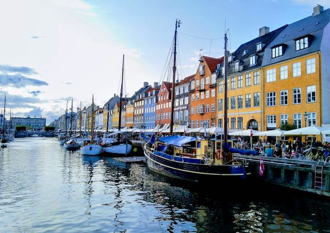 Nyhavn is a colorful spot for pictures or a boat tour.