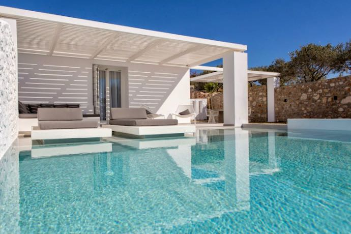 Paros hotel with private pool.