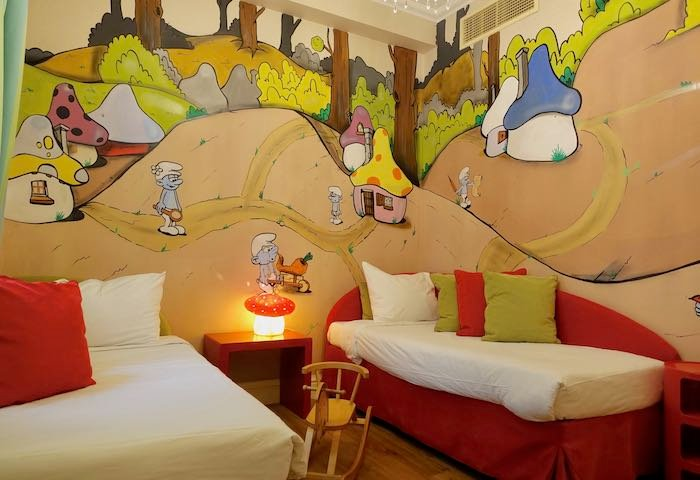 A 2-bedroom Family Graffiti Guestroom at Grecotel Pallas Athena in Athens