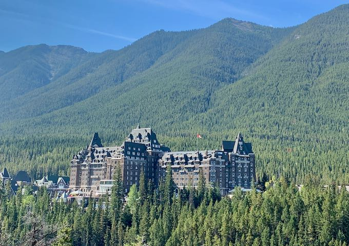 The hotel is located within walking distance of downtown Banff.
