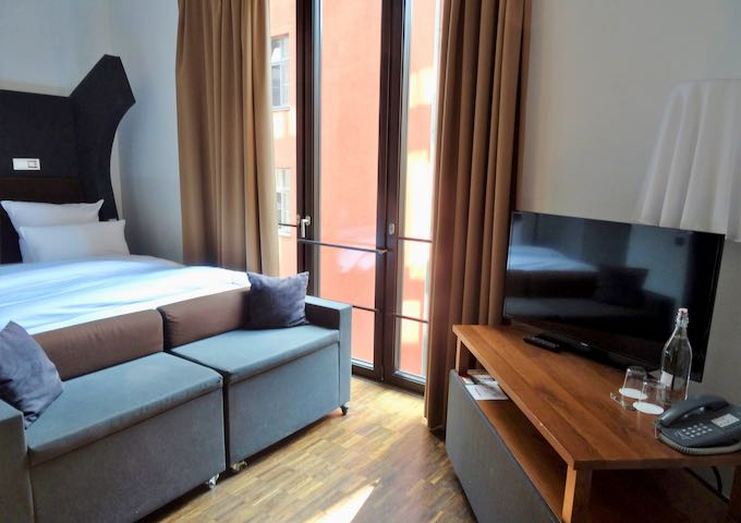 Small rooms feature all amenities, including sofas.