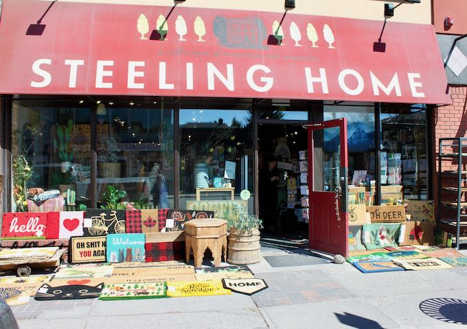 Steeling Home sells unique gifts and souvenirs.