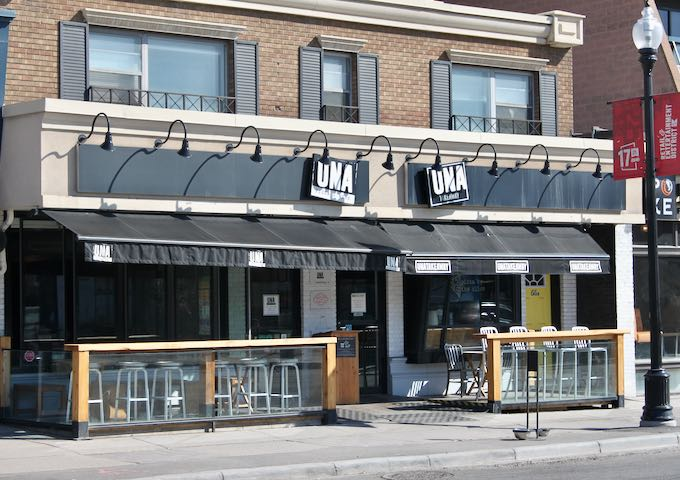 Una Pizza & Wine is known for its thin crust pizzas.