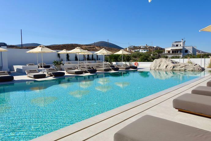 Main pool at Parilio Hotel in Paros