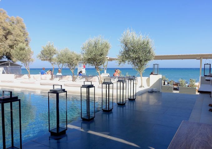 Pool and beach club at Bellonias Villas