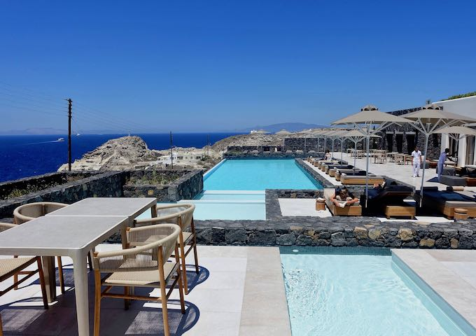 Pool and view at Canaves Oia Epitome