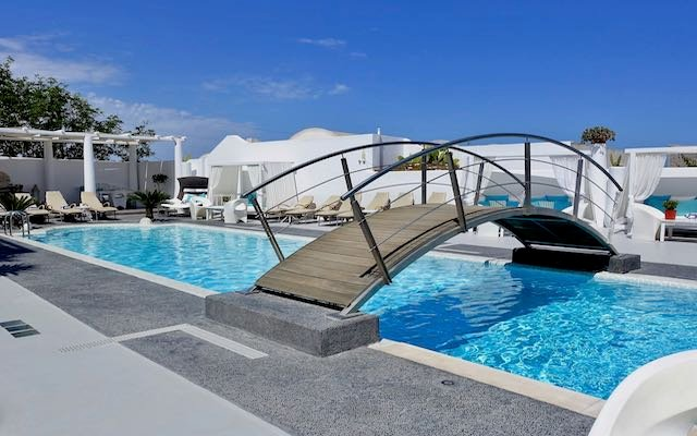 The pool at Aressana Spa Hotel and Suites