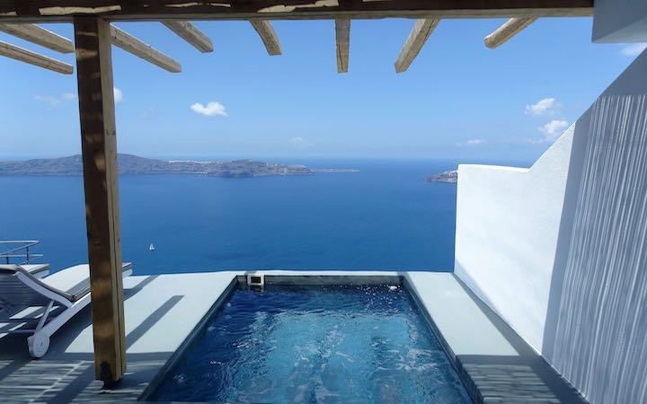 View from a Pool Suite at Remezzo in Imerovigli