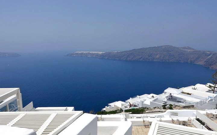 View from the entrance of White Santorini