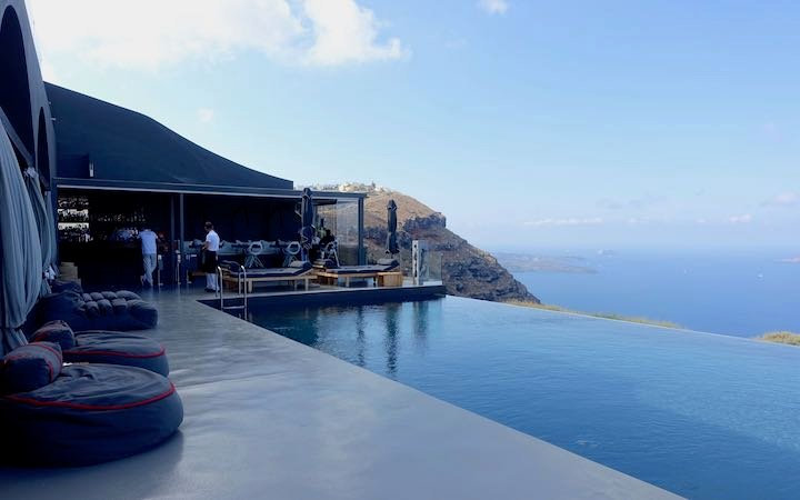 Infinity pool and view at West East Suites