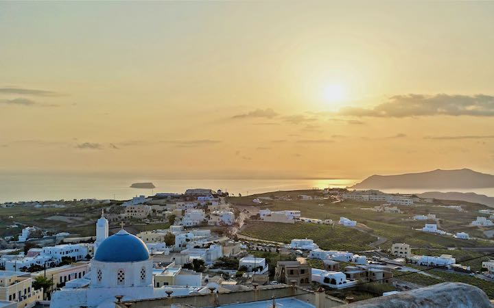 Sunset view from Franco's Bar in Pyrgos