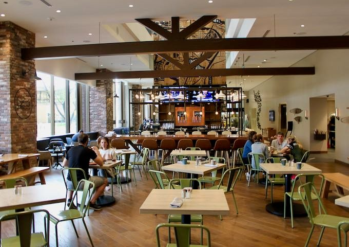 The restaurant offers family-style dining.