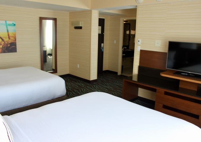 1 Bedroom Suite has a separate living area.