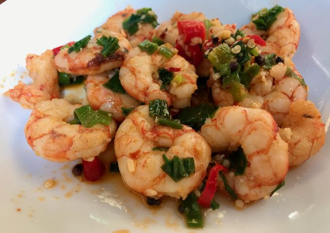 Sichuan shrimp at Azur is very popular.