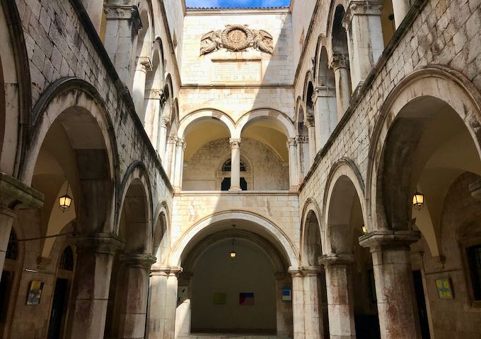 The 16th-century Sponza Palace is very beautiful.