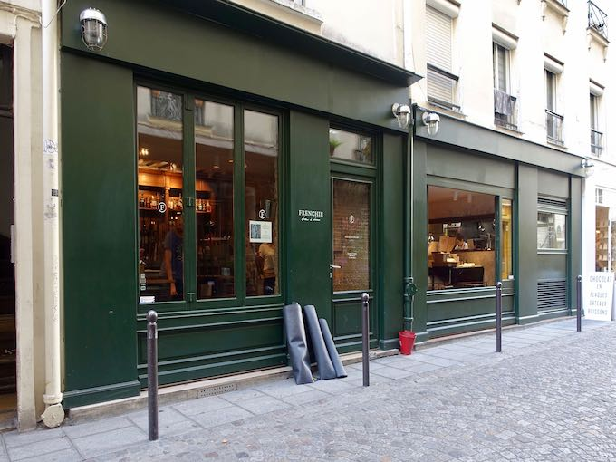 Outside Frenchie Wine Bar in Paris