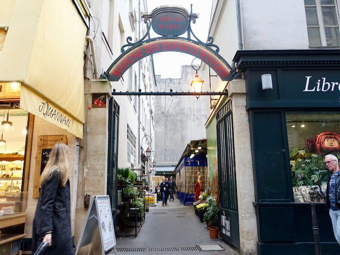 Entrance to the Marché des Enfants Rouges in Paris
