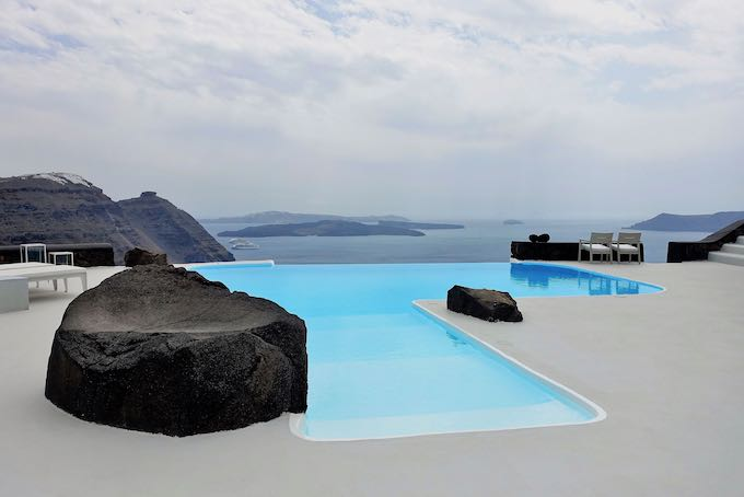 The pool at Aenaon Villas