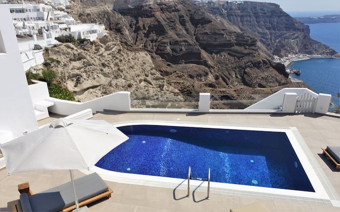 Pool and view from Aphrodite Villa
