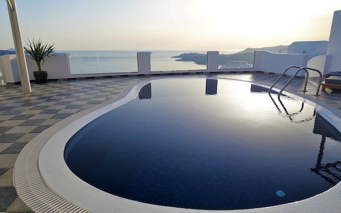Stunning pool and view from Erotas Villa