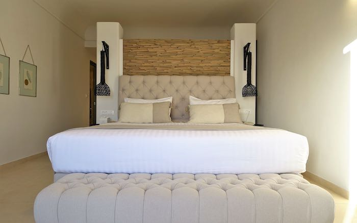 The bedroom of the Ianthi Villa