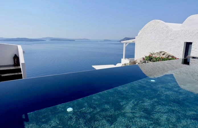 A pool at Alta Mare in Oia, Santorini