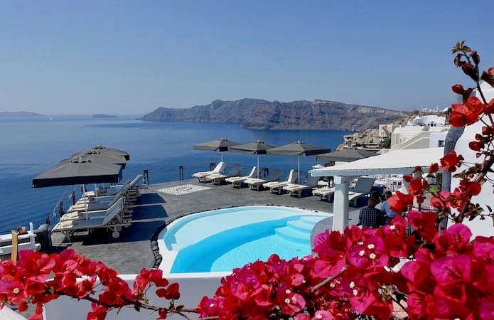 Pool and view at Andronis Boutique Hotel