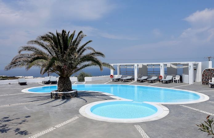 The pool at Anemomilos Hotel