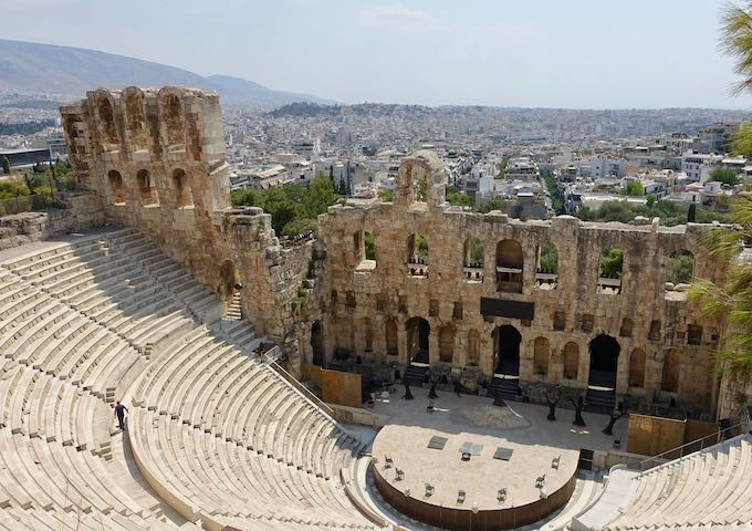 View toward Koukaki from the Odeon of Herodes Atticus