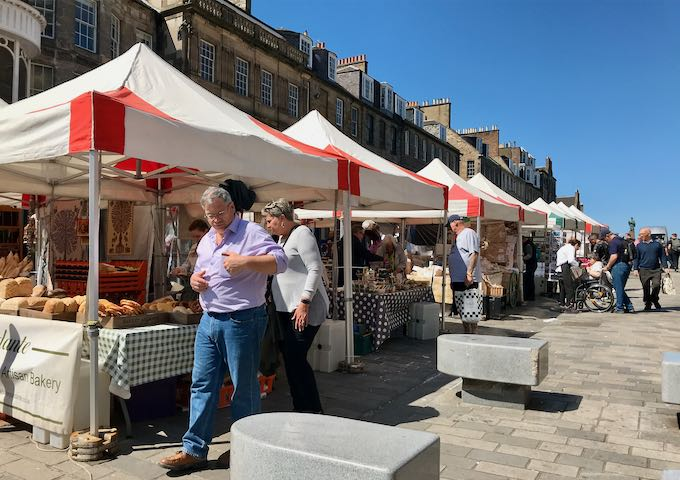 Several fairs are held on Castle Street though the year.