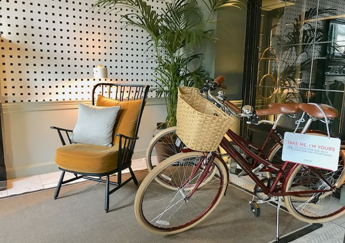Guests can borrow bicycles at the hotel.