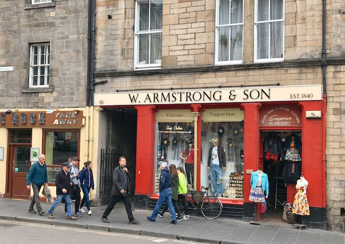Armstrong sells vintage fashion.