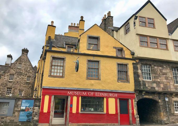 The Museum of Edinburgh showcases the city's history.
