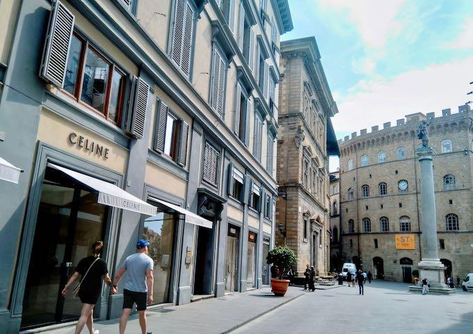 Via de' Tornabuoni has the city's best boutiques.