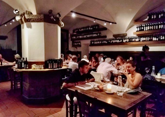 Il Santo Bevitore serves a contemporary Tuscan menu.