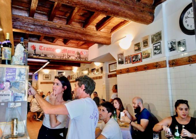 Trattoria Mario serves great Tuscan fare.