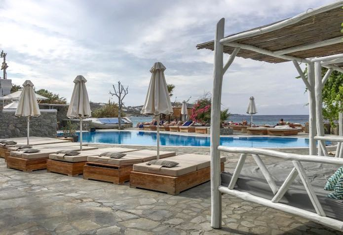 The pool at Hippie Chic Hotel in Agios Ioannis