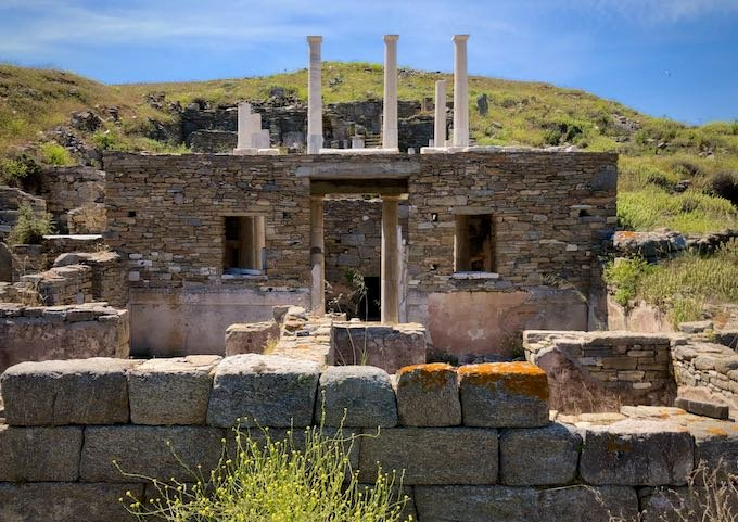 The ruins at Delos Island
