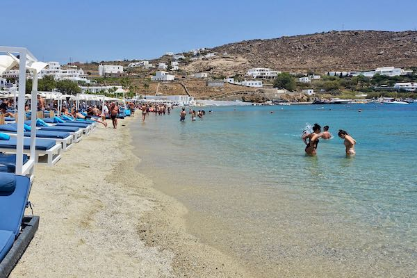 Ornos Beach in Mykonos