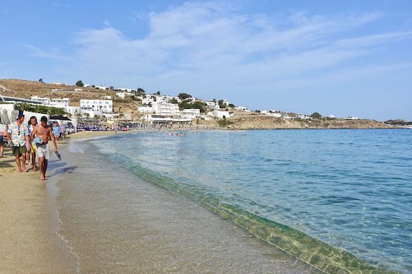 Platis Gialos Beach in Mykonos