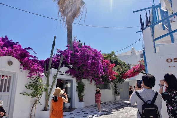 A street in the Chora, Mykonos